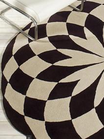 alfombra circular hechas mano KP Madrid