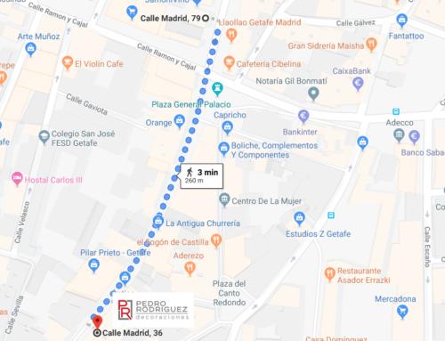 Nos hemos cambiado del nº 79 al nº 36 de la calle Madrid, Getafe